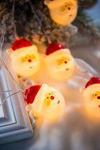 New Led Lantern String Christmas Snowman Avatar Flashing Lights Day Decorative Light