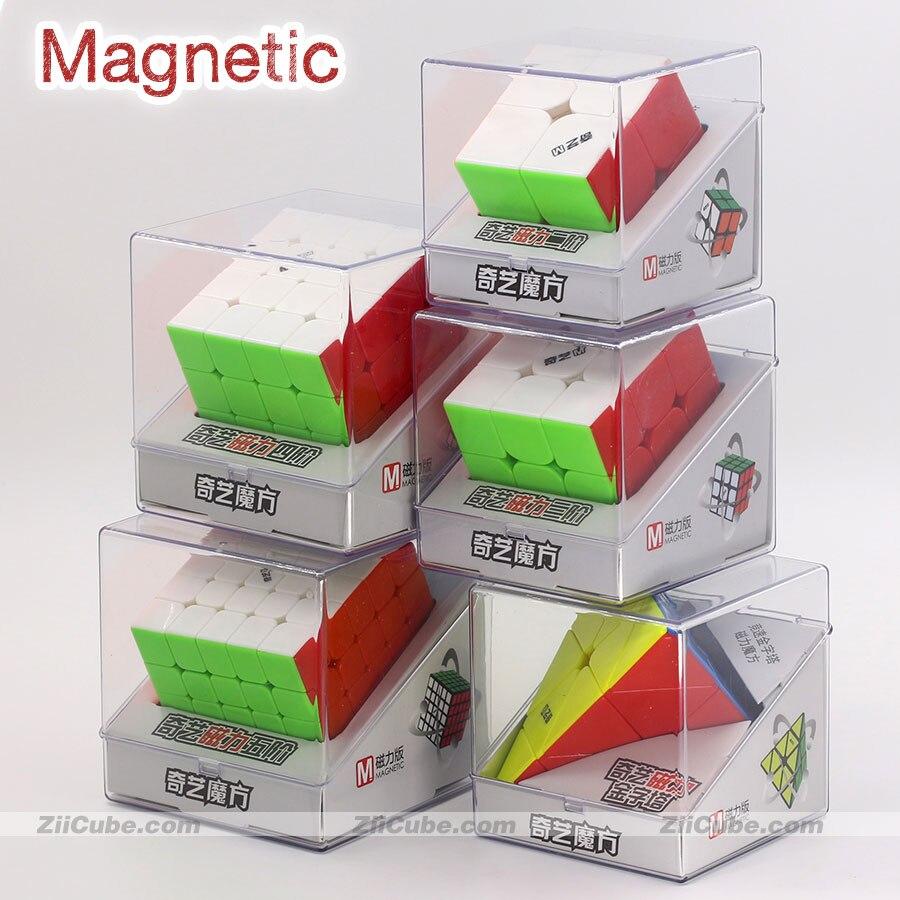 Cubo magnético mágico puzlle qiyi quebra-cabeças ímã 2x2x2 3x3x3 4x4x4 5x5 pirâmide 4x4 pyramorphix 3x3 mastermorphix velocidade cubo brinquedo