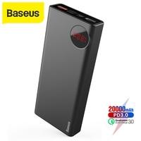 Baseus 20000 mah power bank pd3.0 carregador rápido ao ar livre carregador de viagem para o iphone xs max xr x 8 plus power bank para samsung Baterias Externas     -