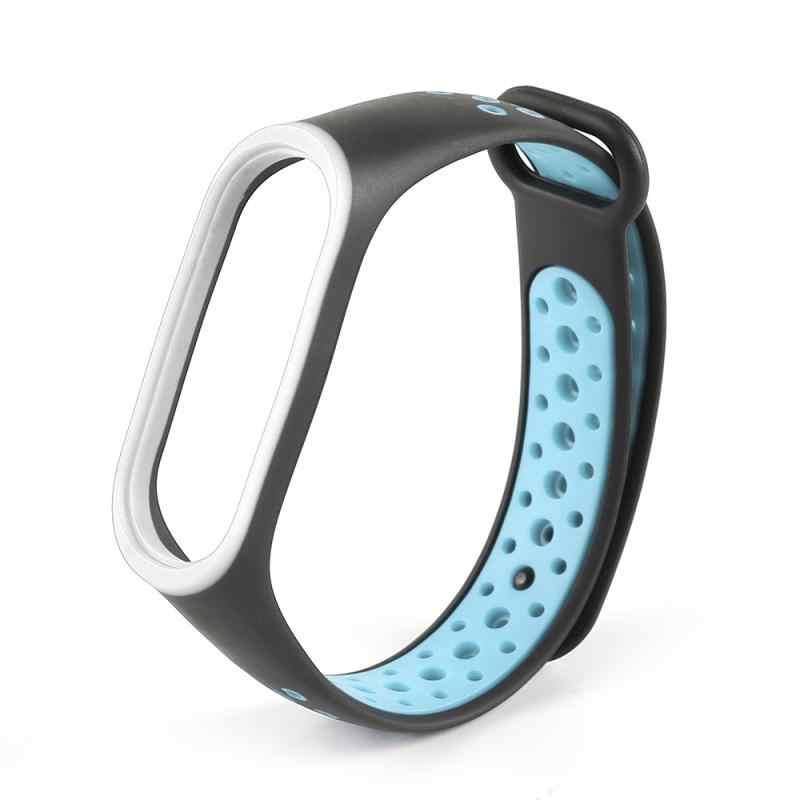 Per Xiao mi mi fascia 4 Cinghia di Accessori per Articoli Elettronica smart sostituzione impermeabile Doppio Braccialetto Del Silicone Di Colore per mi Band4 NFC cinturino Da POLSO