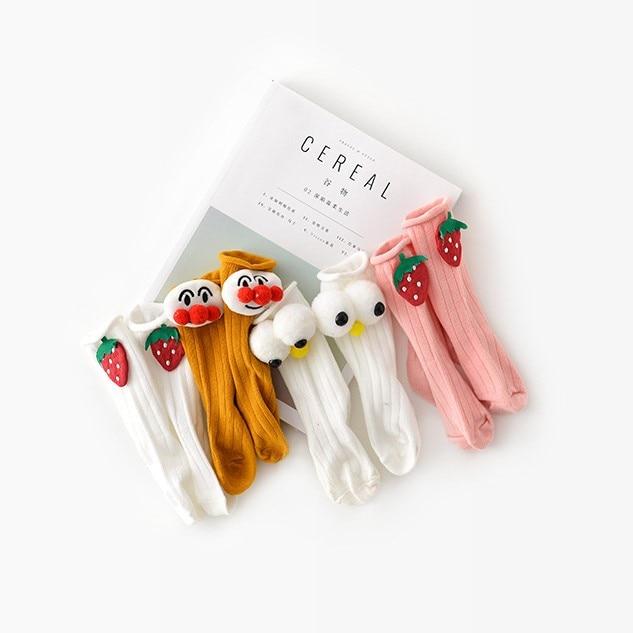 Spring Summer Children Clothes Socks Cute Cartoon Wings Newborn Baby Socks Cotton Strawberry Eggs Lovely Wild Romper Accessories