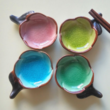 Creative Japanese Household Crackle Glaze Ceramic Seasoning Dish Soy Sauce Dish Sauce Dish Vinegar Dish Beauty Dish Essential Oi ceramic sauce dish home soy sauce dish snack sauce creative cutlery set for home kitchen supplies