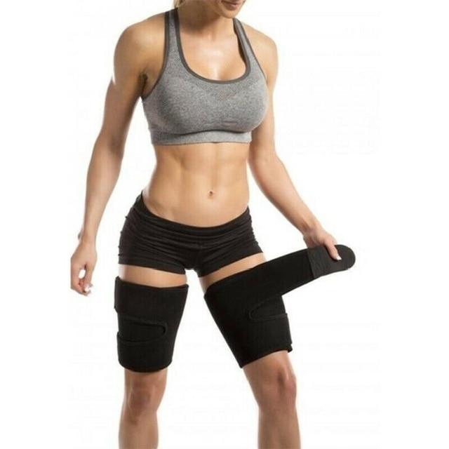 1 Pair Slender Sports Neoprene Leg Shaper Running Sweat Absorb Compress Belt Training Sauna Protective Slimming Fitness 4