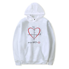 Men/women all you need is love math equation hoodie spring autumn