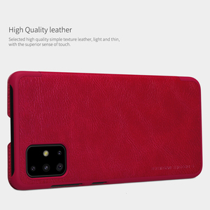 Image 3 - For Samsung Galaxy A51 5G phone case Nillkin Qin Series Flip Leather Case For Samsung Galaxy A51 Luxury Wallet Cover