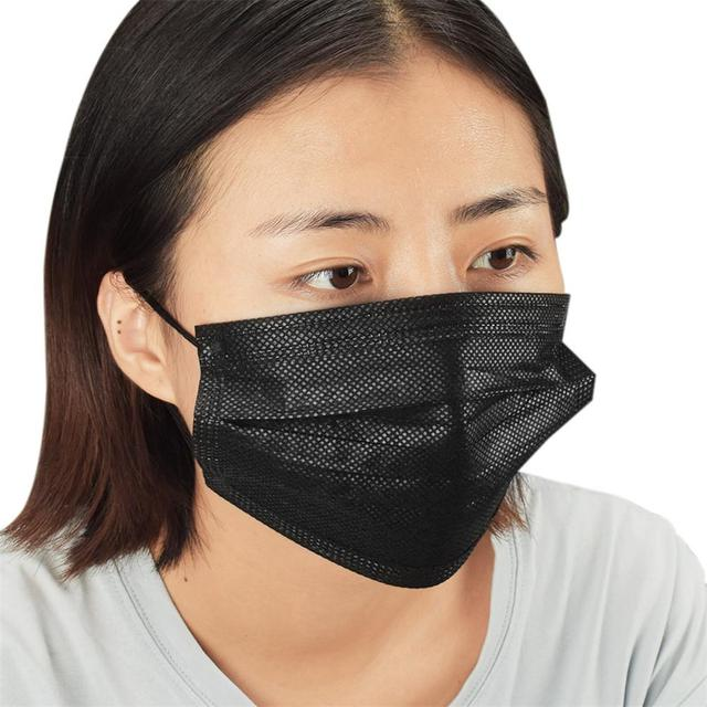 10pcs/Pack Black disposable Health mouth Mask Nonwoven Activated carbon filter Dust Mask Respirator Anti - virus flu Masks 4