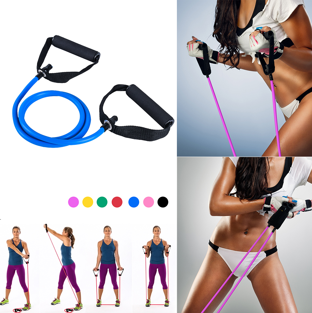 Practical Yoga Pull Rope Elastic Resistance Band Body Fitness Yoga Equipment Exercise Training Rubber Tensile