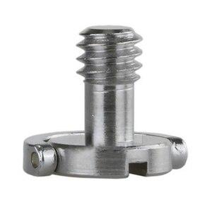 """Image 1 - Aço inoxidável cativo 1/4 """"c anel parafuso para câmera tripé placa de liberação rápida"""
