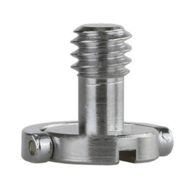 """Stainless Steel Captive 1/4"""" C ring Screw Bolt for Camera Tripod Quick Release Plate"""