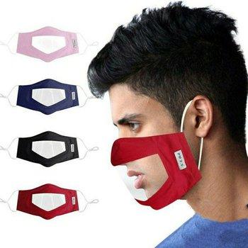 Μάσκα προστασίας με διαφάνεια για τα χείλη πολλαπλών χρήσεων