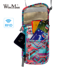 2019 Oxford Travel Passport Neck Bag RFID ID Holder Phone Wallet Pouch for Men Women Multifunction Credit Card Tickets