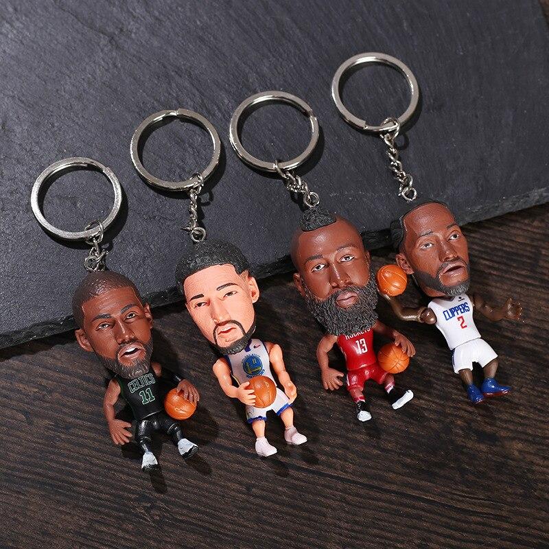Баскетбольный мяч кукольный брелок Мини Фигурки Коллекционная игрушка смолы кольцо для ключей на рюкзак с подвеской-отличный подарок для игры в баскетбол фанаты звезд