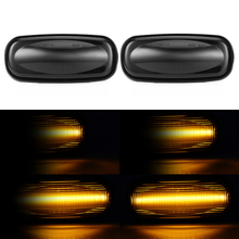 2pcs Side Marker LED Water Flow Turn Signal Light Lamp For Land Rover Discovery 1999-2004 Freelander 2002-2005 car