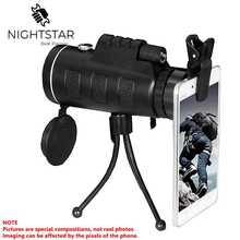 40x60 Монокуляр зум HD оптический телескоп сотовый телефон объектив наблюдения съемки Кемпинг телескоп с зажимом для смартфонов