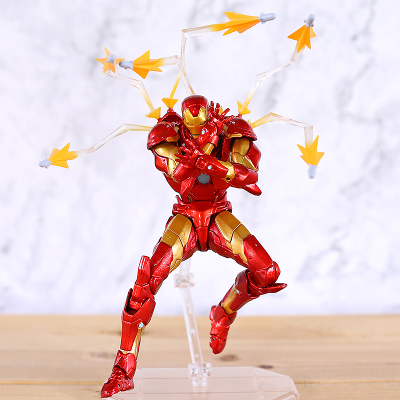 Amazing Yamaguchi Revoltech No 013 Iron Man Bleeding Edge Armor Action Figure Collectible Model Toy Action Figures Aliexpress