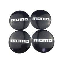 For Momo Logo Car Wheel Center Cap Sticker Auto Accessories Tyre Cover Decal Suzuki Sx4 Volkswagen Volvo Fiat 500 Audi A3 A4
