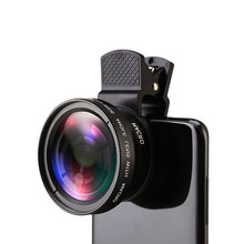 12X Phone camera Lens Monocular Telescope Long Focus Lens 0.45X Wide Angle macro Lens Universal For Digital Camera Mobile Phones