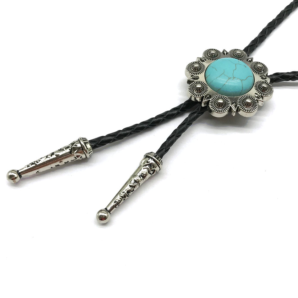 Metal Accessories Leather Collar Rope Handmade BOLO TIE For Men