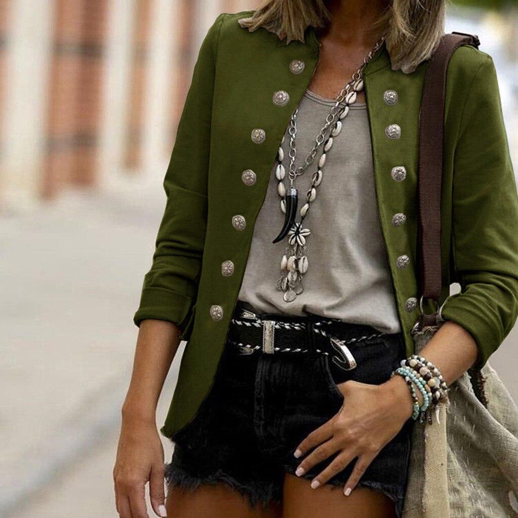 Винтажные двубортные блейзеры для женщин, осенняя куртка на пуговицах, весенние женские ретро-костюмы, пальто, женские модные блейзеры, кос...