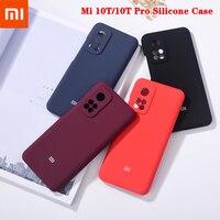 Xiaomi-funda protectora trasera para teléfono móvil inteligente, carcasa de silicona líquida y sedosa, 100% Original, a prueba de golpes, modelo Mi 10T Pro 5G, Mi10T, Redmi K30S