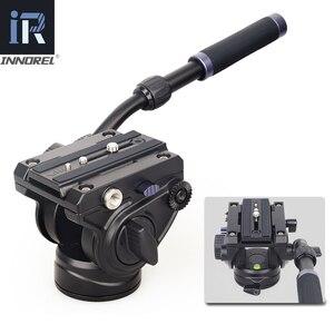 Image 4 - F60/F80 ビデオ流体ヘッドパノラマ油圧眼レフカメラの三脚三脚スライダー調整可能なハンドルマンフロットq.r。プレート