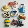 Nordic ins home decoration 3D food macarone coffee refrigerator paste magnetic Coffee cake kettle fridge magnet collection gifts 5