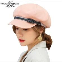 цена на Hat Brim Military Leather Belt Women Cotton Army Hat Black Hats For Women Men Flat Top Hat Wholesale Female gorras 2019 New