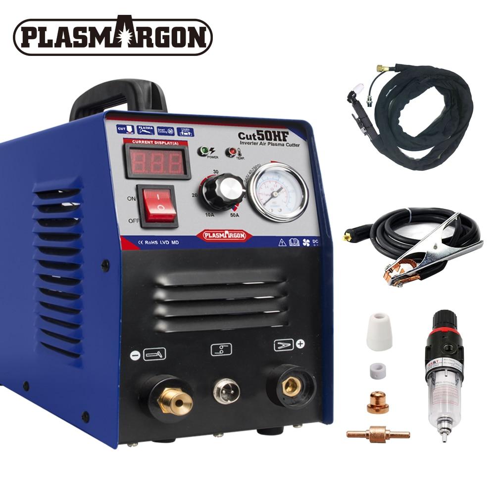 Plasma Cutter CUT50 HF Air Digital Inverter 110/220V Hand Plasma Cutting Machine Plasmaresis Aurora For Plasma Cutting 1-16mm HQ