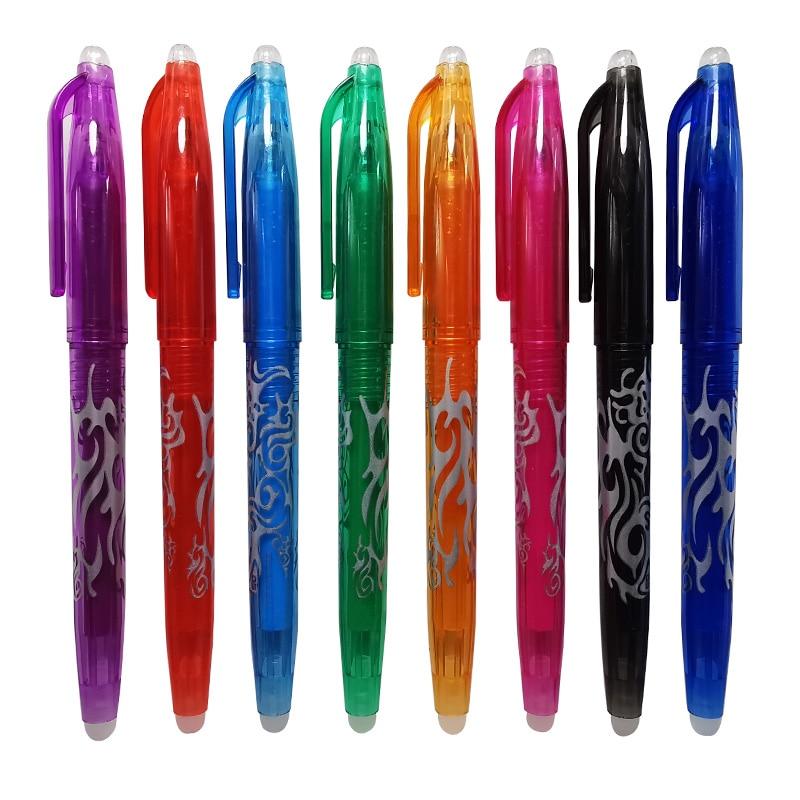 8 Pcs Erasable Ballpoint Pen 8 Colors Gel Pen 0.5mm Writing Pen Student School Office Pen Holiday Gift Pen Teaching Equipment