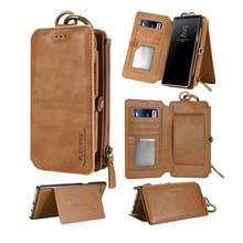 Floveme capa com carteira de couro para samsung, case protetor, carteira em couro, para samsung s10, s9, s8, galaxy note 10, 9, 8 bolsa retrô para mão