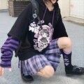 Женская толстовка на каждый день в японском стиле с длинным рукавом, с героями мультфильмов аниме толстовки для женщин в стиле хип-хоп Харад...