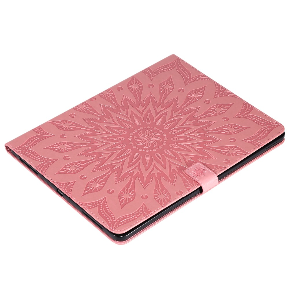 Embossed Shell Flower 12 Pro Protective 3D Skin for 9 iPad Cover Case Leather 2020