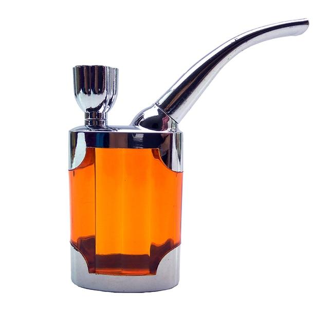 5 Colors Multifunction  Filter Purpose Water Smoking Pipes Smoke Grinder Narguile Hookah Tobacco Pipe Cigarette Holder Smoking