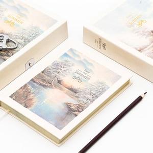 Image 4 - Livro de senha caderno com bloqueio, diário secreto para crianças adulto, criativo, grafia, caderno feminino, ilustração de página de cor