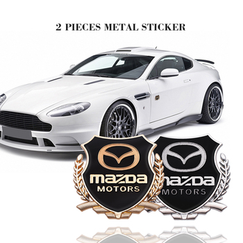 2PCS 3D Metal Car Side Door Badge Emblems Stickers Styling Decals For MAZDA CX-3 CX-4 CX-5 CX-8 CX-30 MX-5 Accessories