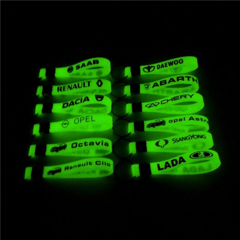 Luminous Car Keyring Keychain Sticker For Fiat Punto 500 Stilo Bravo Grande Punto Hyundai Solaris Accent I30 IX35 Tucson