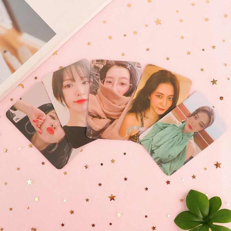 Kpop赤ベルベットはがきフォトカード 5 個のk-ポップ赤ベルベットyeri喜びseulgiウェンディlomoカードkpop photocardアルバム