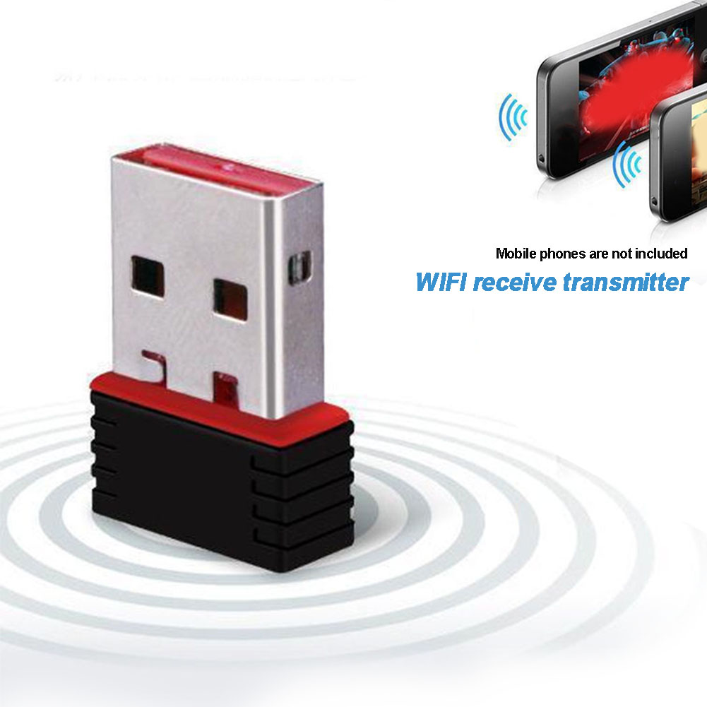 New Mini USB WiFi Dongle 802.11 B / G / N Wireless Network Adapter Receiver 150M Wireless Network Card For Laptop PC Computer