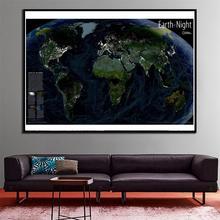 2x3ft изысканные холст картины брызга стены дома декор карта Земли ночью для гостиной Decaration