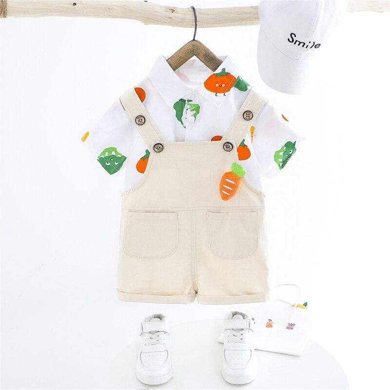 hylkidhuose bebe meninas meninos conjuntos de roupas 2020 verao manga curta dos desenhos animados t camisa