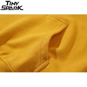 Image 5 - Plain Green Hoodie Sweatshirt Men Pullover Hoodies Autumn 2020 Streetwear Korean Harajuku Hooded Sweatshirt Casual Black White