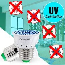 E27 UVC Lamp Sterilizer Light LED E14 Germicidal 3W 5W 7W MR16 Disinfect Bacterial Bulb Led Kill Mite GU10 Ozone UV