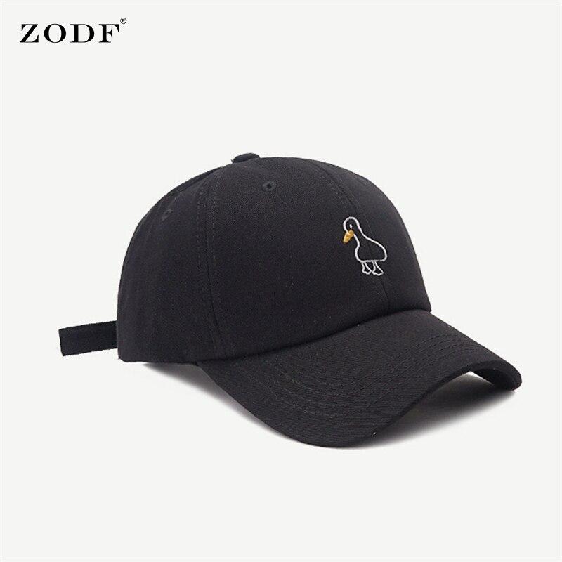 ZODF Fashion Women Adjustable Cotton Caps Duck Embroidery Men Unisex Baseball Caps Adjustable Snapback Hats Brand New HY0124