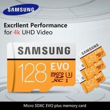 100% Original SAMSUNG tarjeta TF tarjeta de memoria Micro SD de 64GB u3 EVO, con más de 128GB Class10 100 MB/S 32G Micro SDXC UHS-1 4K Ultra HD
