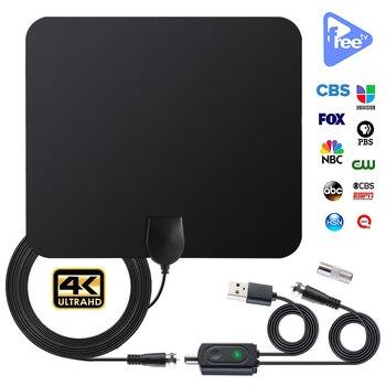 1080P 200 Mile Range Antenna TV Digital HD Skylink 4K Antena Black Digital Indoor HDTV Antena