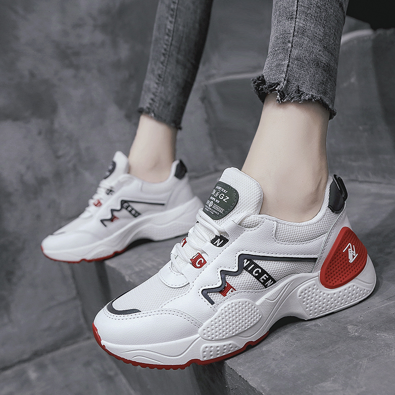 2019 Women Shoes New Chunky Sneakers For Women Vulcanize Shoes Casual Fashion Breathable Dad Shoes Platform Sneakers