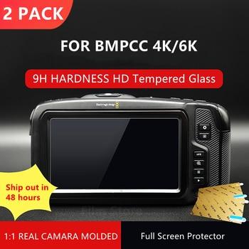 2PCS BMPCC 4K / 6K Camera 9H Camera Tempered Glass LCD Screen Protector Protection for Blackmagic Design Pocket Cinema Camera 4K smallrig bmpcc 4k cage dslr camera blackmagic pocket 4k 6k camera for blackmagic pocket cinema camera 4k 6k bmpcc 4k 2203b