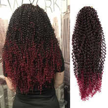 Afro synthetic hair Braid Water Wave Kinky Curly Crochet Bra