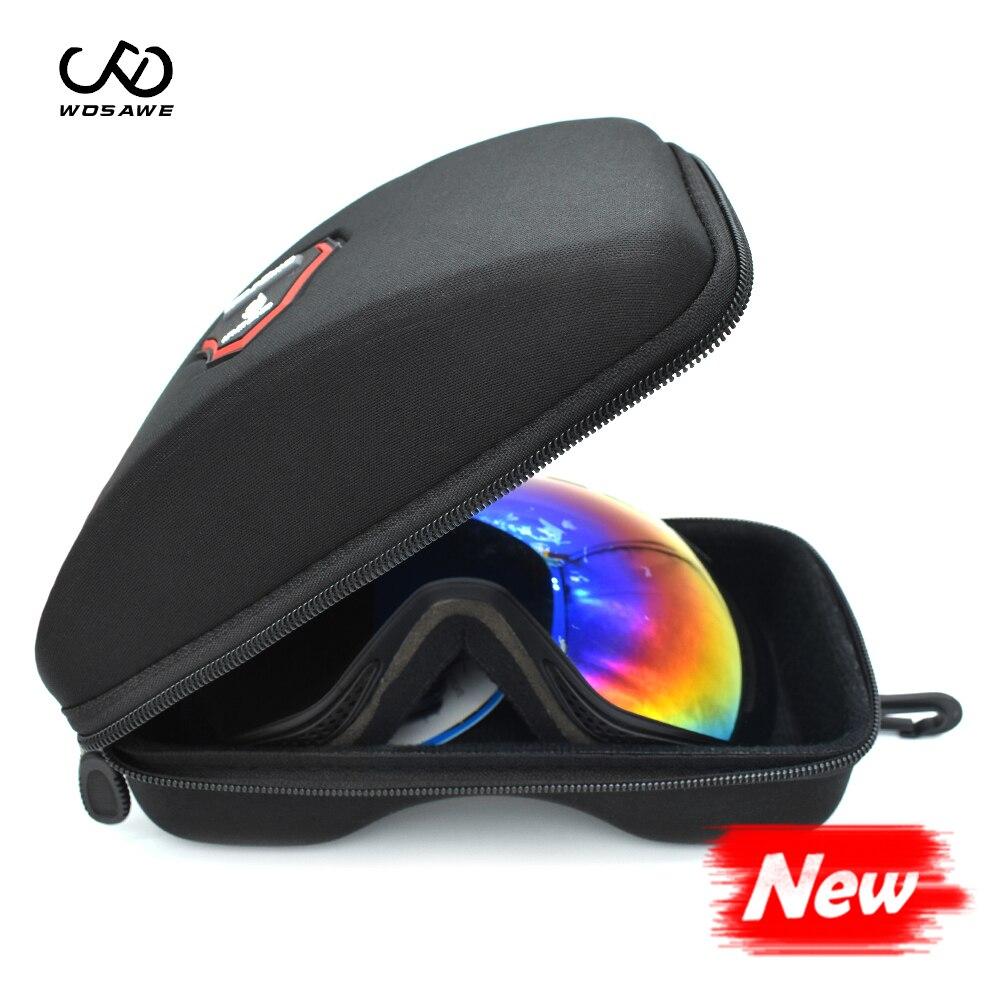WOSAWE Skiing Goggles Skiing Snowboard Polarized Sunglasses Motocross Goggles Double Layers Anti-fog Snow Skating Glasses BOX