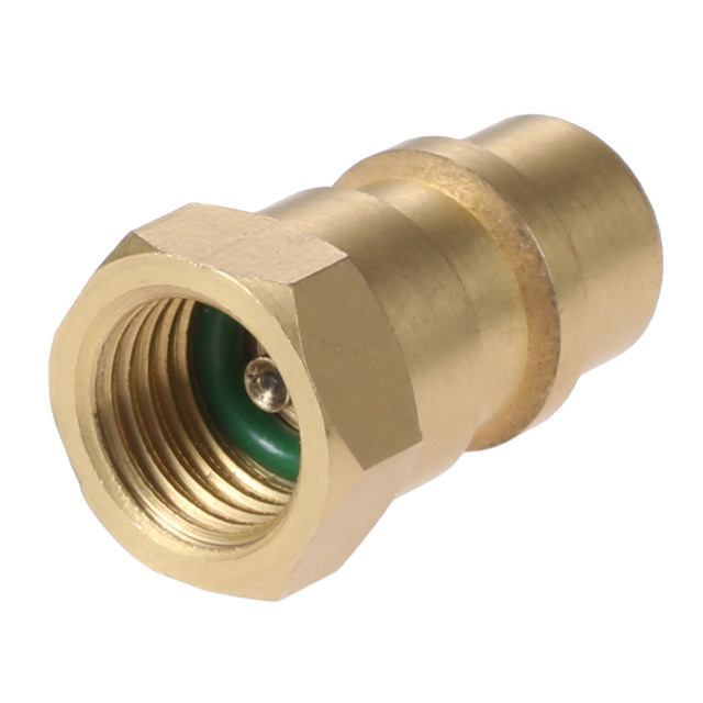 """Yetaha Car Air Conditioning R12 R22 R502 Screw to R134A Conversion Adapter Valve 1/4"""" SAE to 8v1 Thread"""
